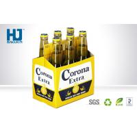 China 6 Bottles Cardboard Beer Box Corrugated Paper Material Carton Pop Up wholesale