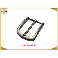 China 35mm Popular Silver Custom Metal Belt Buckle For Men Eco Friendly wholesale