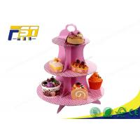 China Custom Tiered Cardboard Cake Display Full Color Printing For Cake Retail Stores wholesale