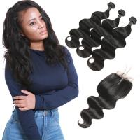 Quality 3 Bundles Brazilian Remy Virgin Hair Extensions Body Wave Customized Length for sale