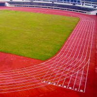China Sports Rubber Playground Surfaces , Red Recycled Rubber Floor Tiles on sale