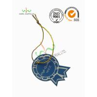 China Multi Colored Clothing Hang Tags With Metallic String Round Corner Shape wholesale