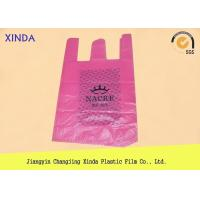 Quality T-shirt custom printed plastic recyclable bags packaging on rolls waterproof for sale
