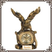 China Polyresin animal shaped Clock desktop clock new product clock 911AK wholesale