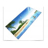 China Quick Drying Microfiber Beach Towel , Sports Beach Towels With Square Shaped wholesale