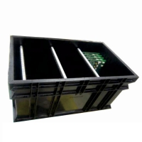 China PP Plastic 1.5KG 10e9 Ohms Antistatic Circulation ESD Tray wholesale