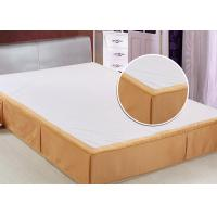China Customized Size Hotel Bed Skirts Detachable OEM / ODM Available wholesale