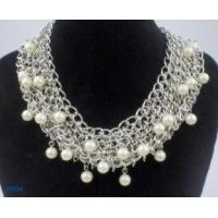 China Graceful silver plated durable color beaded long pearl handcrafted necklaces for women wholesale