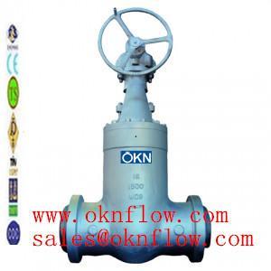 China 3 A217-C5/WC6/WC9 butt welded gate valve/sales@oknflow.com wholesale