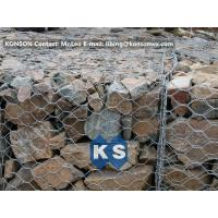 China PVC / Zinc Coated Wire Mesh Gabion Retaining Wall , Galvanized Hexagonal Wire Fence wholesale