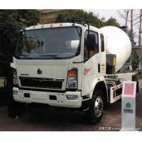 China High Power 3 Yard Concrete Mixer Truck Four Point Shock Absorbing Mounting on sale