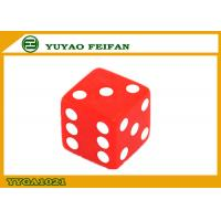 China 16mm Custom Acrylic Dice Two Six Sided Dice Set  Red Square Corner wholesale