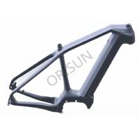 China Full Carbon Custom Bicycle Frames , Mid Drive Carbon Fibre Cycle Frames on sale