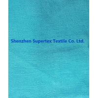 China Garment Ramie Linen Fabric Silk Crepe in Solid Dyed Aqua Color and Prints wholesale