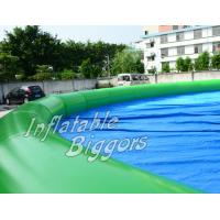 China Leadless Green Inflatable Water Pools Custom For Rental , Large Inflatable Pools wholesale