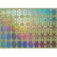 China Rainbow Color Security Hologram Sticker , Custom Vinyl Decals Stickers on sale