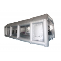 China 6x4x3m UV Resistant Silver Inflatable Car Spray Booth Painting Station For Car Painting wholesale