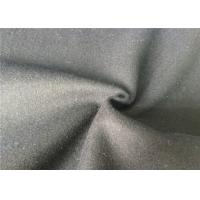 China Skin Friendly Soft Melton Wool Fabric For Garment , Wool Coating Fabric wholesale