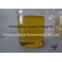 China Bodybuilding Steroid Powder Methenolone Acetate 100mg / Ml Yellow Liquid wholesale