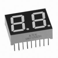 China 0.56 Inch Dual-digit Numeric LED Display with Viewing Distance up to 6m, Pure Green is Available wholesale