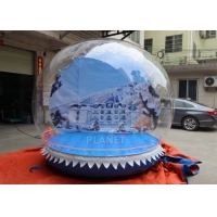 China Outdoor 3m Inflatable Human Size Snow Globe For Promotion wholesale