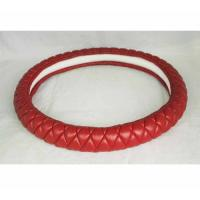 China Lambskin hot sell Kuwait Russia Peru car steering wheel cover from Factory wholesale