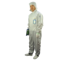 China 2.5mm Grid 98% 99% Polyester Antistatic ESD Coverall wholesale