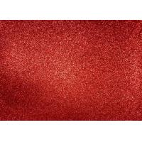 China Magenta Red Glitter Fabric For Dresses , Cold Resistance Shiny Glitter Fabric wholesale