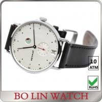China Black Date Chronograph Stainless Steel Watch / Quartz Wristwatches wholesale