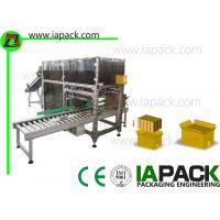 China Double Row Automatic Case Packer Speed 70 - 130 Per Packs Minute wholesale