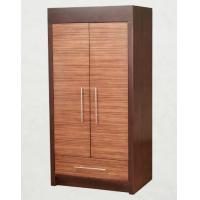 Wooden Two Door Wardrobe Storage Closet With Drawers For Hotel Bedroom