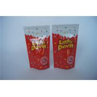 China Zipper Herbal Incense Packaging , Resealabe Potpourri Aluminum Foil Stand Up Pouch wholesale