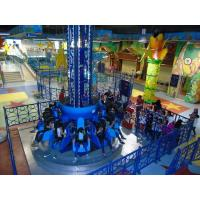 China 10 12M Twist Drop Tower Amusement Ride Blue Color With Led And Music Function wholesale