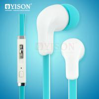 China Yison P39 Plastic Ear cup with tangle free flat wire fresh multicolor headphone with mic volume control on/off switch wholesale