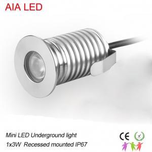 China modern AIA LED  1x3W DC12V waterproof IP67 interior LED spot light/ led underground lighting wholesale