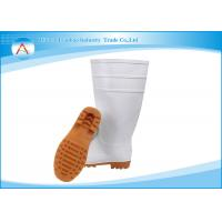 White Unisex Industrial PVC Safety Cleanroom Raining Boots Waterproof