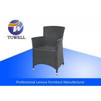 China Hand Woven Aluminum Frame Outdoor Stacking Rattan Wicker Chairs For Modern Outdoor Patio wholesale