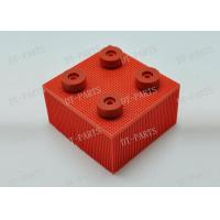 China Red Block Cutter Parts With Round Foot Nylon Bristle 130297 For Vector 5000 Vector 7000 wholesale