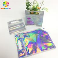 China Digital Print Foil Pouch Packaging Clear Front Hologram Zip Lock Bag For Cosmetic Sample wholesale