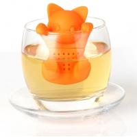 China Orange Cat shaped Food Grade safe Silicone Tea Strainers BPR Free wholesale