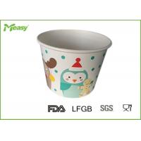 China Customized Disposable Paper Bowl For Frozen Yogurt / Ice Cream , FDA  LFGB Standard on sale