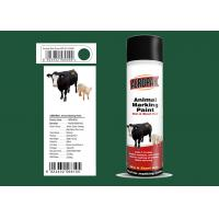 Buy cheap Dark Green Color Marking Spray Paint , Animal Marking Paint With REACH from wholesalers