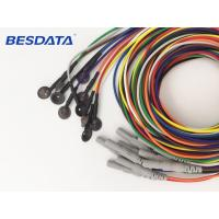 China 10/8 mm Cup EEG Electrodes Cables For Portable EEG Medical Equipment wholesale