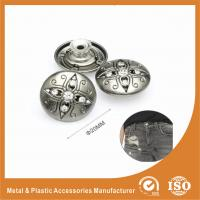 China Antique Silver Diamond Inlay Jean Buttons , garment trims and accessories wholesale