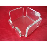 China Square Clear Acrylic Tissue Box , Plexiglass Napkin Holder 11cm x 9cm wholesale