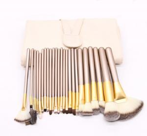 China 24 Pcs Professional Makeup Brush Set Aluminum Ferrule Material wholesale