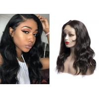 China Silky Body Lace Front Wigs / Natural Color Brazilian Lace Front Wigs wholesale