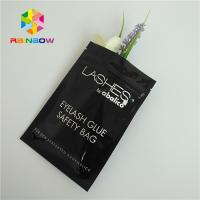 China Zip Top Heat Seal Packaging Bags Eyelashes Holographic Stand Up Pouch Clear Front wholesale