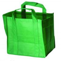 China Custom Printed Carrier Bags Cotton Shopping Totes in Green , Purple , White wholesale