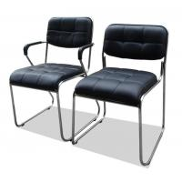 China Black Computer Office Furniture Chairs Synthetic Leather Metal Frame Comfortable wholesale